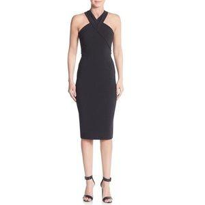 Nicholas black techno bi stretch curve dress sz 2
